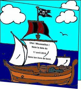 Faire Part Baptême Pirate